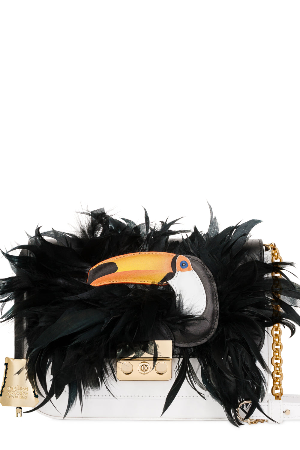 Lovely Toucan Leather Mini Bag - The Bobby Boga