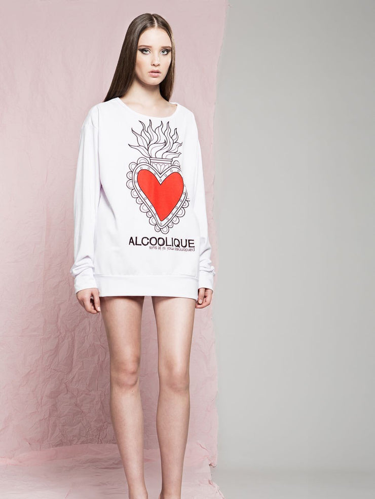 Alcoolique Scared Heart Print Top-THE BOBBY BOGA