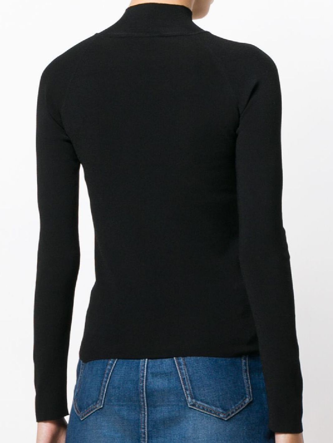 Logo Intarsia Knit Turtleneck Sweater - The Bobby Boga