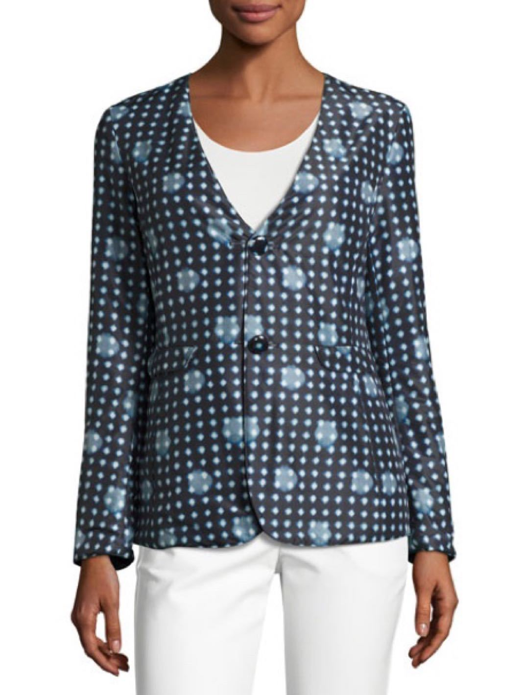 Reversible Dot-Print Two Button Jacket - The Bobby Boga