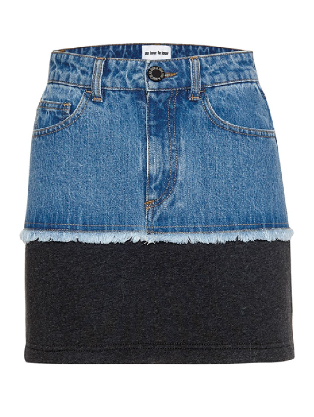 Lusaka Denim Mini Skirt - The Bobby Boga