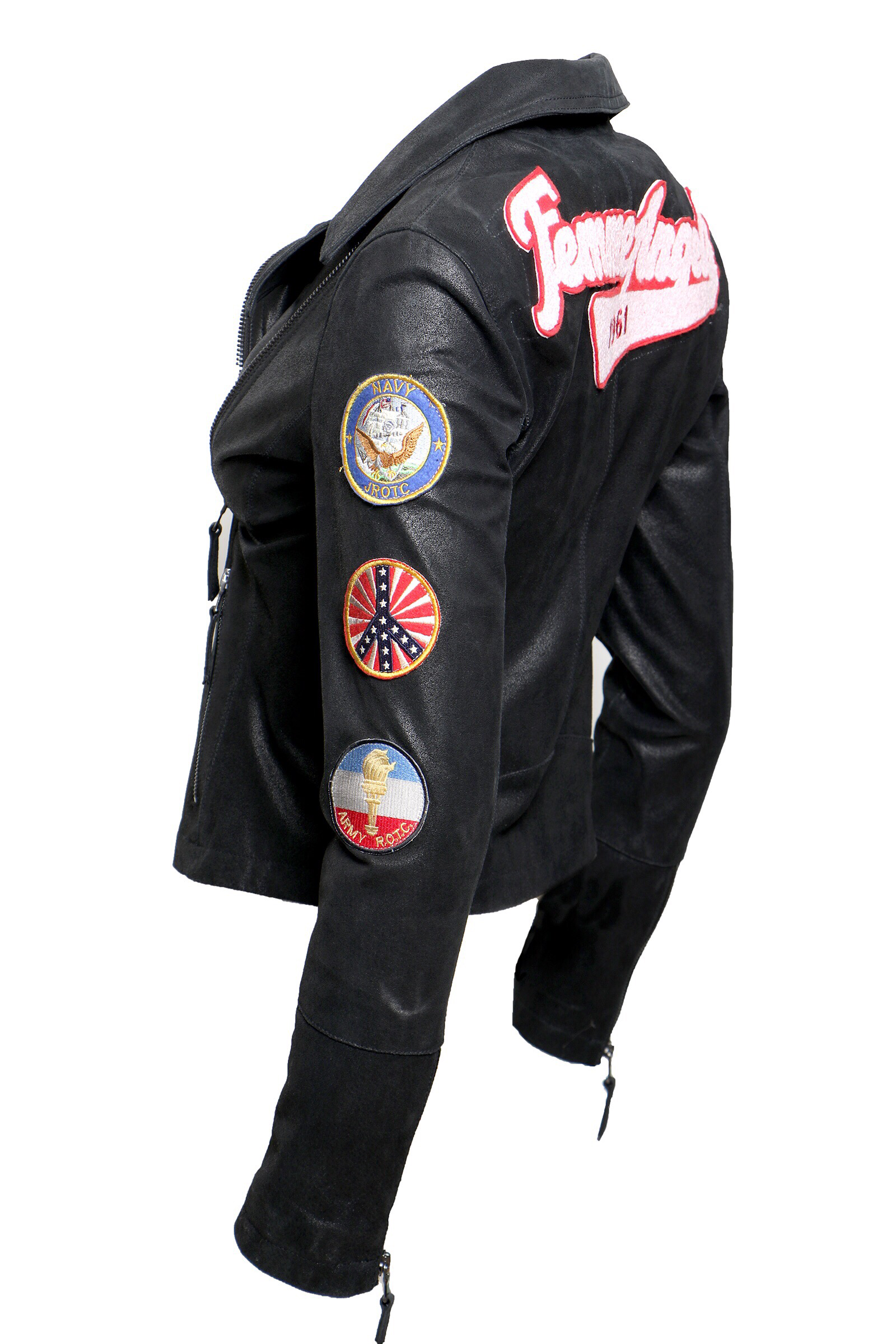 Patch Biker Jacket - The Bobby Boga