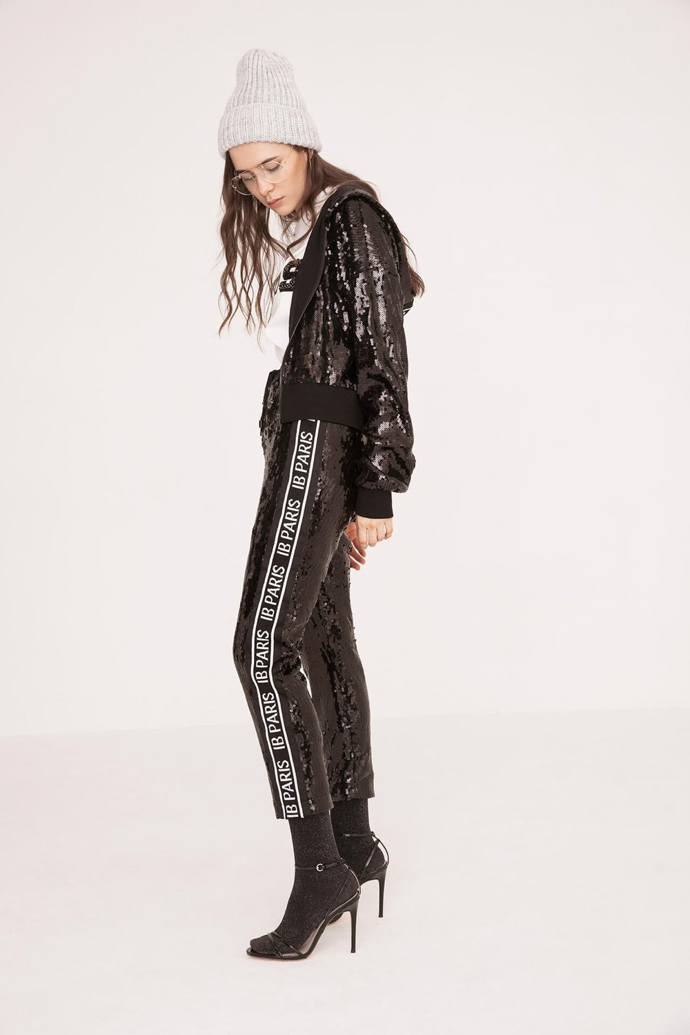 Side-Stripe Sequin Trousers - The Bobby Boga
