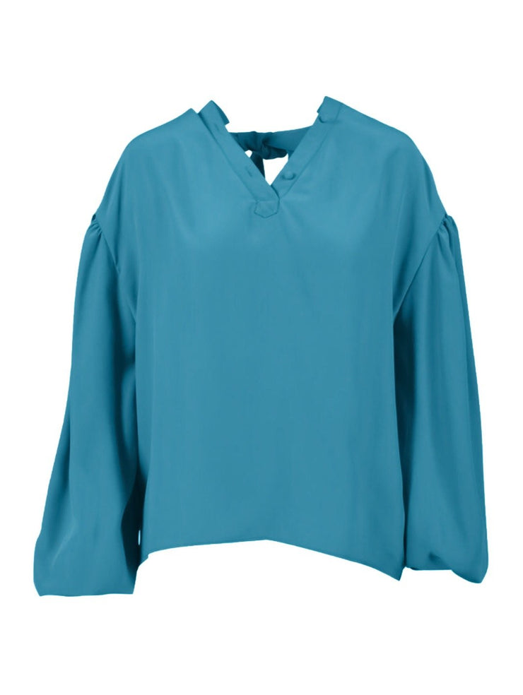 Balenciaga Balloon-Sleeve Crepe Blouse-THE BOBBY BOGA