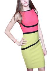 Betto Yula Color-Block Sheath Dress