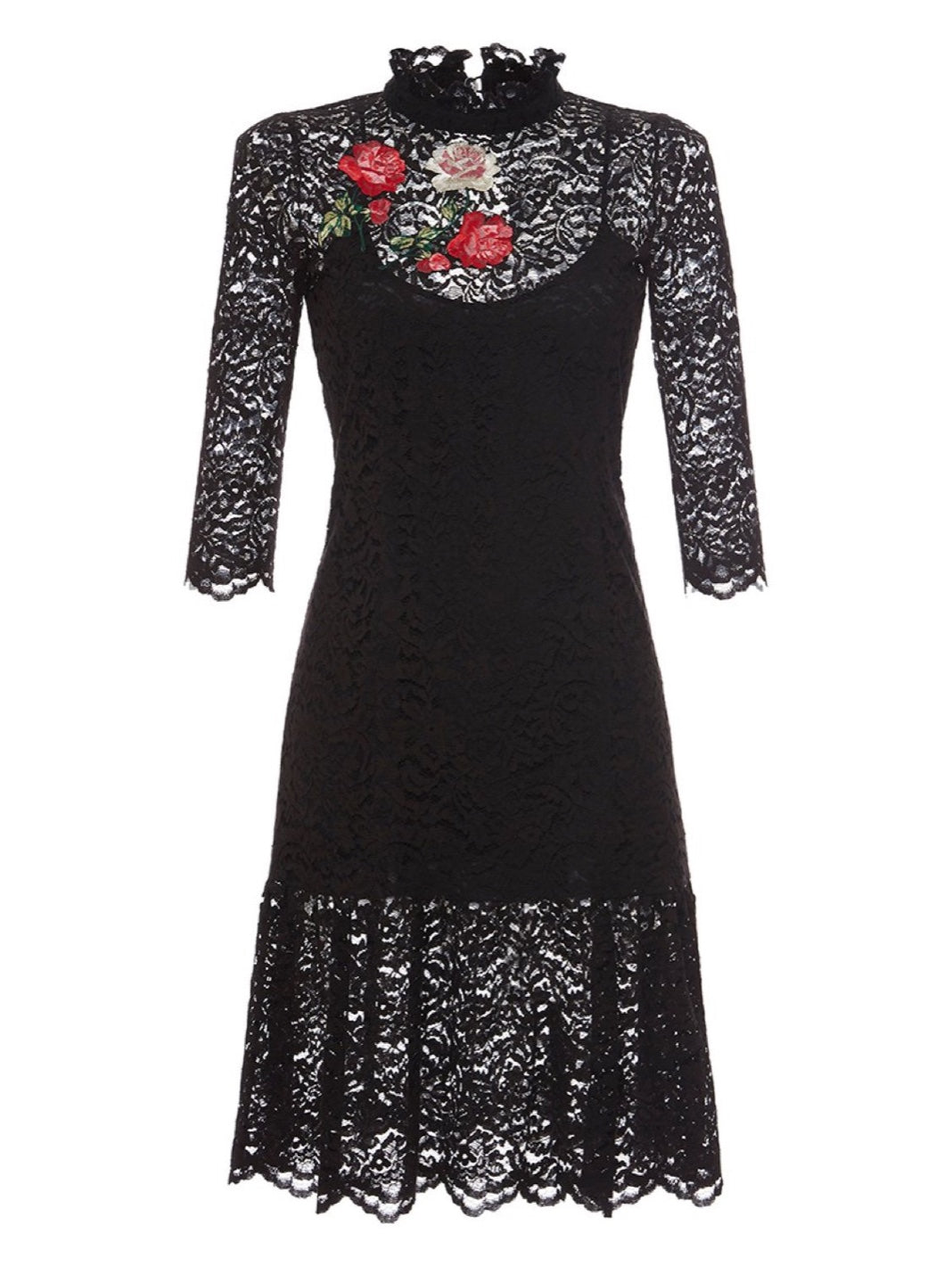 Embroidered Lace Dress - The Bobby Boga