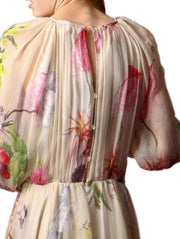 Blumarine Flared Floral Print Dress