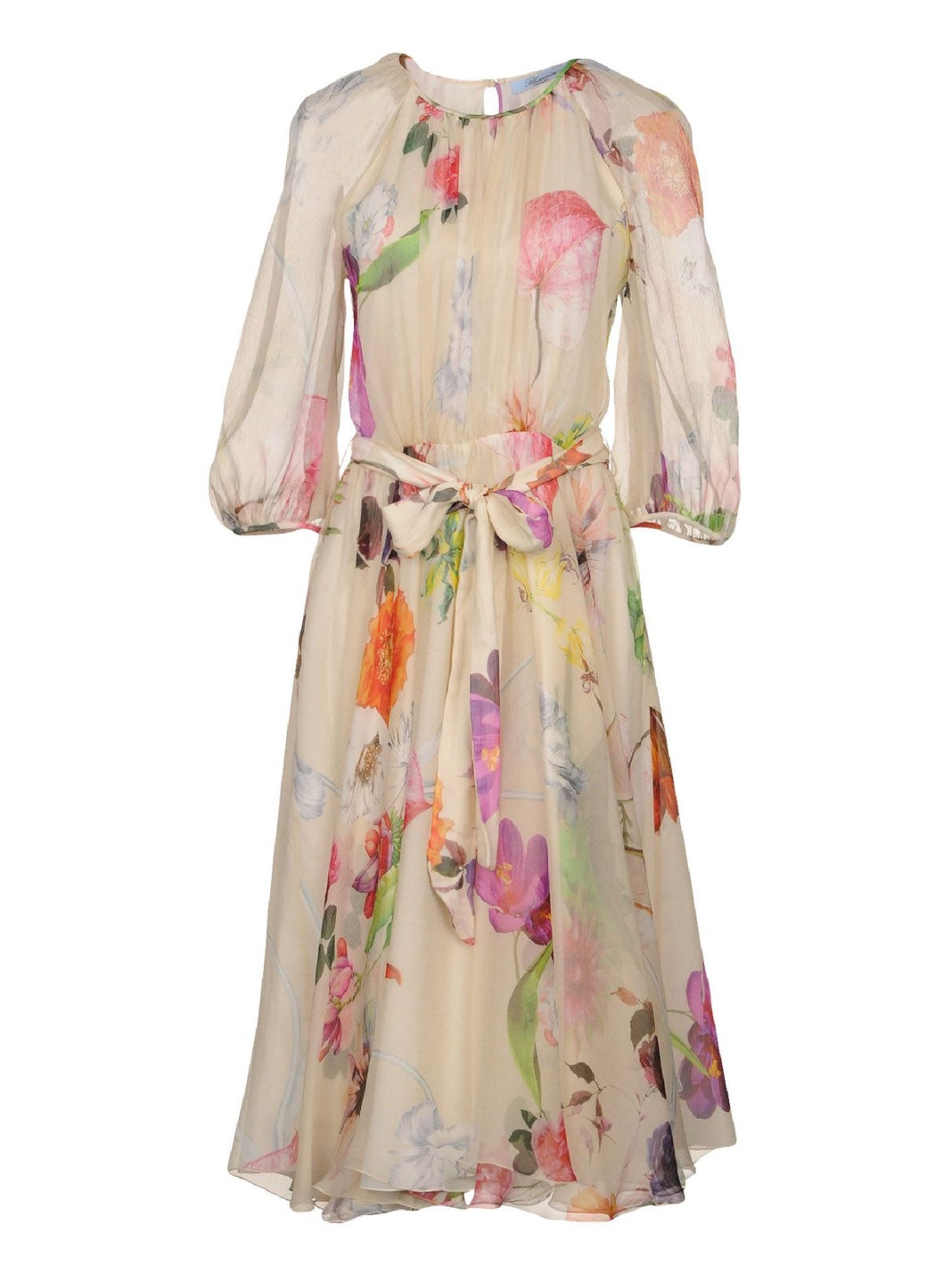 Flared Floral Print Dress - The Bobby Boga