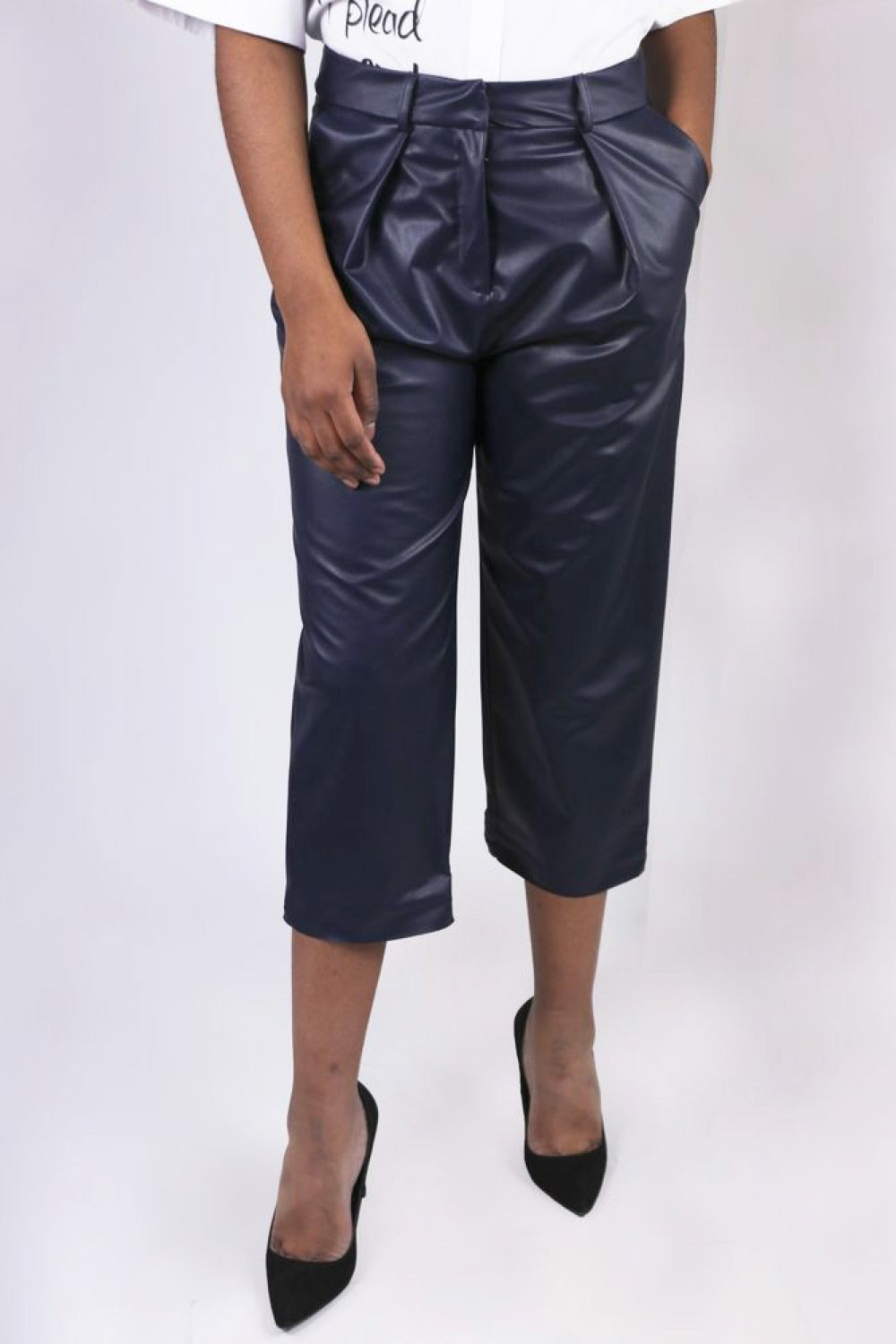 Capri Eco-Leather Pants - The Bobby Boga