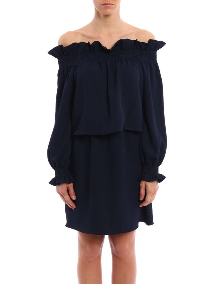 DVF Georgie Off-the-shoulder Dress