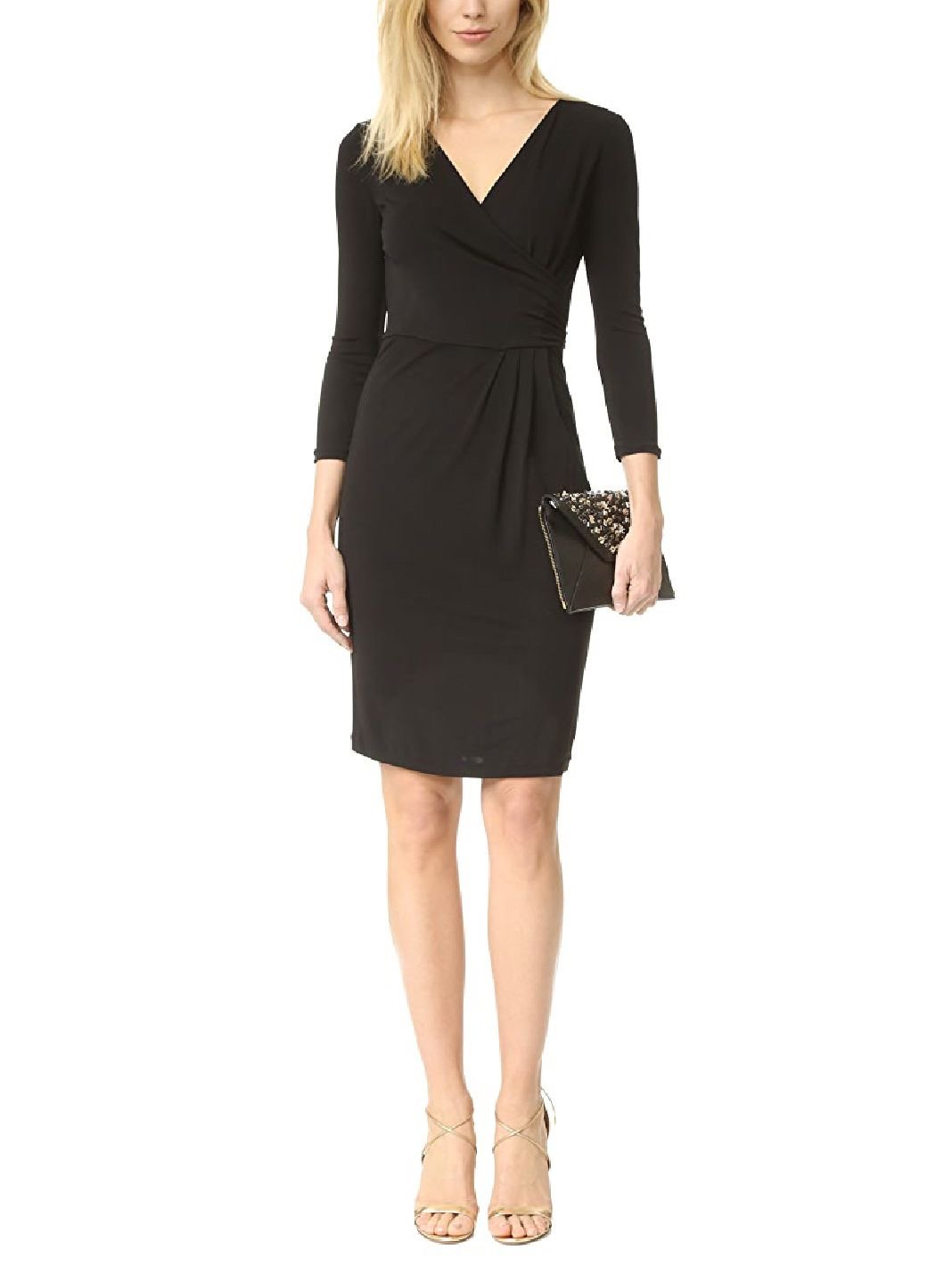Calista Wrap-Effect Mini Dress - The Bobby Boga