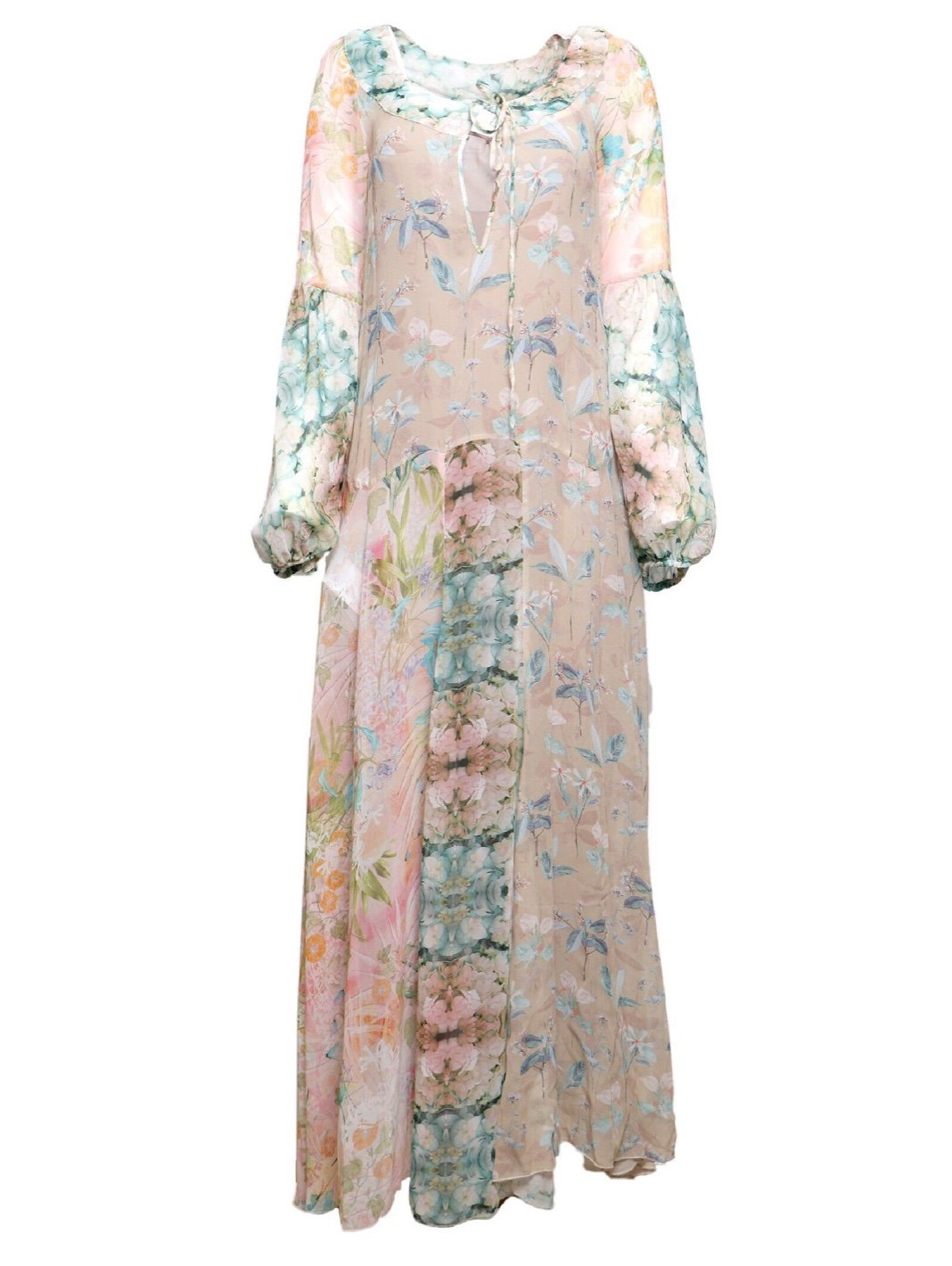 Floral Print Silk Dress - The Bobby Boga