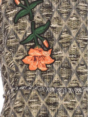 Floral Embroidered Tweed Dress