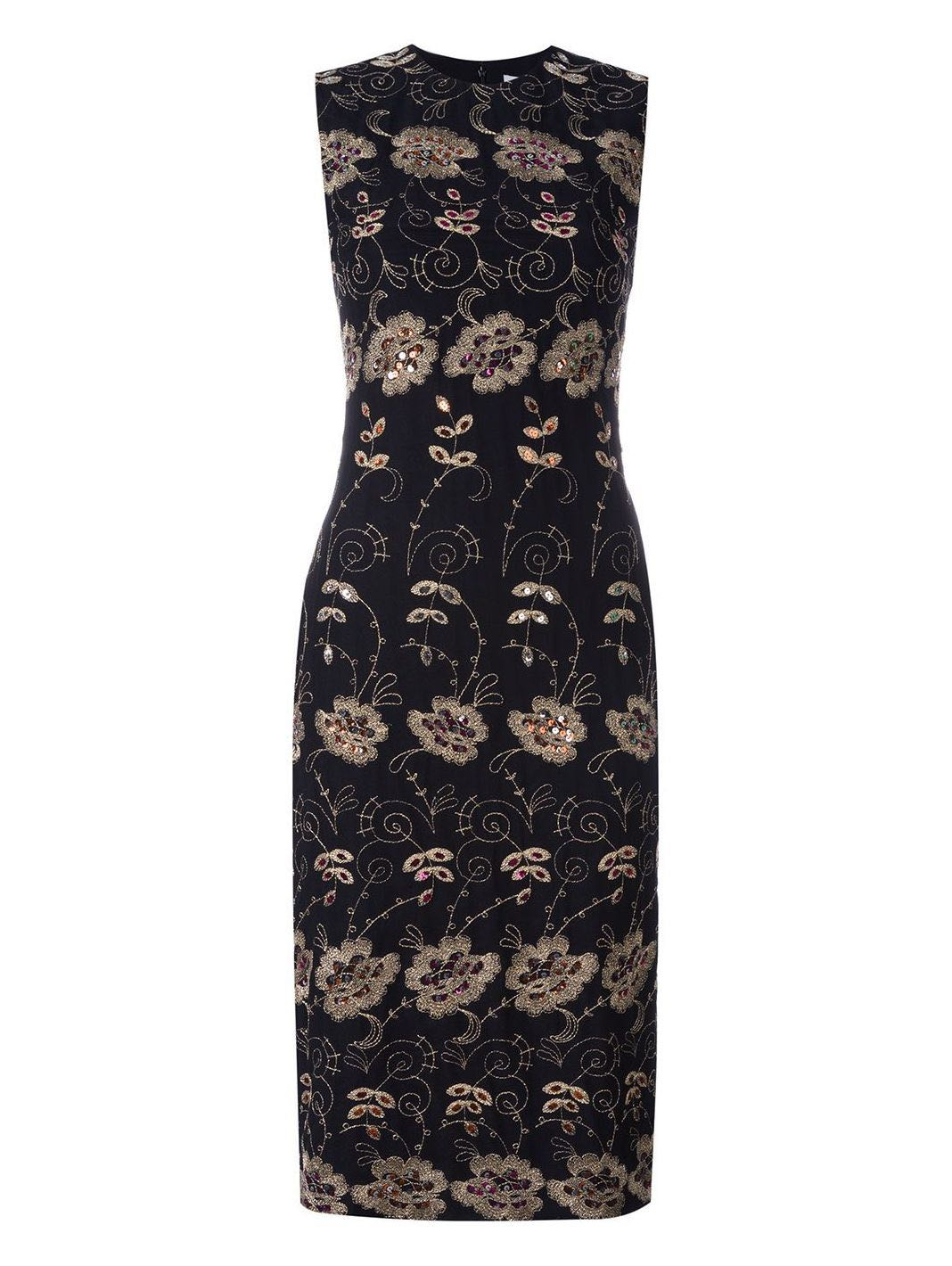 Floral Embroidered Sheath Dress - The Bobby Boga