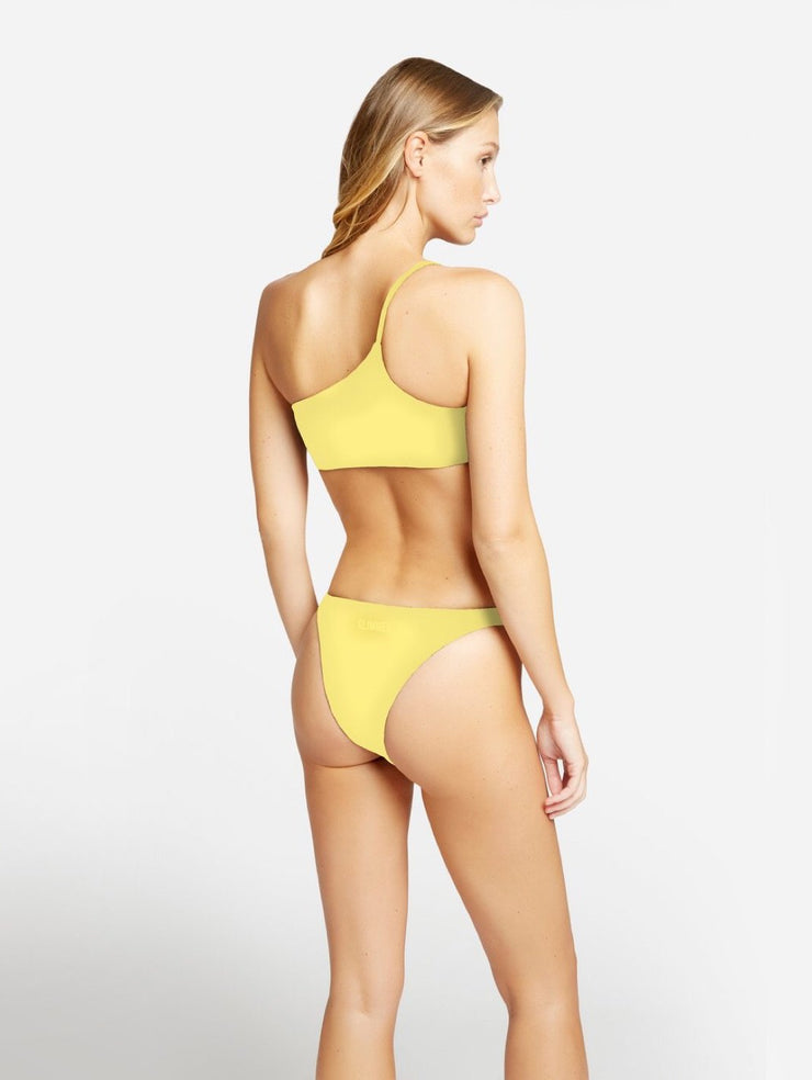 Glimmed Yellow One Shoulder Bikini-THE BOBBY BOGA