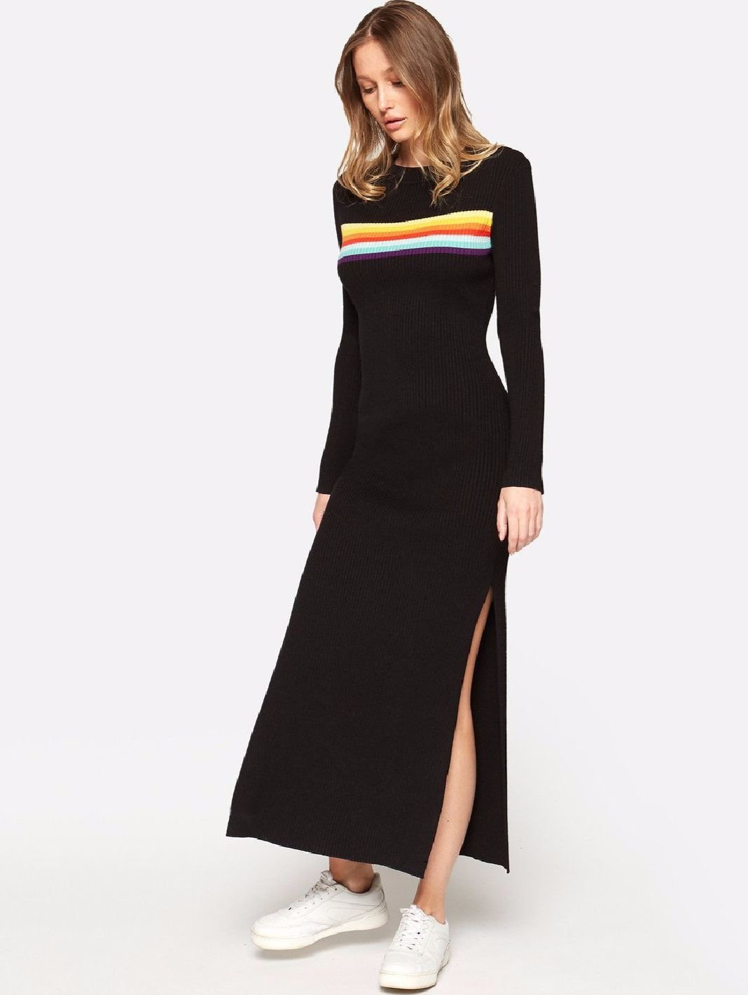 Maglione Rainbow Maxi Black Dress - The Bobby Boga
