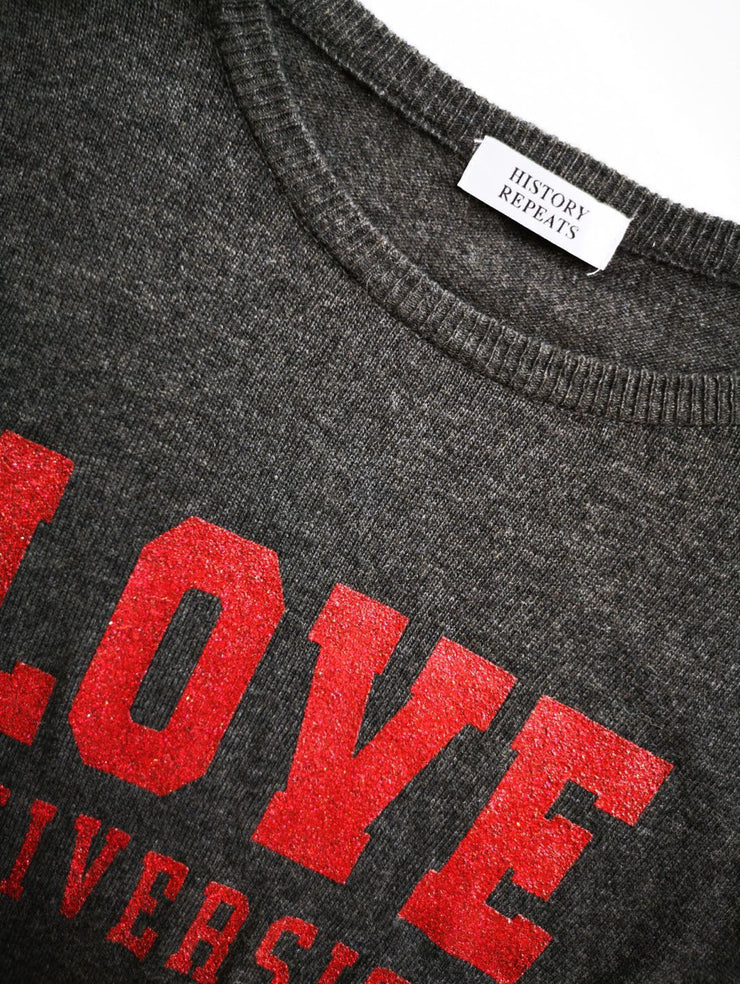 History Repeats LOVE Cashmere-Blend Pullover-THE BOBBY BOGA