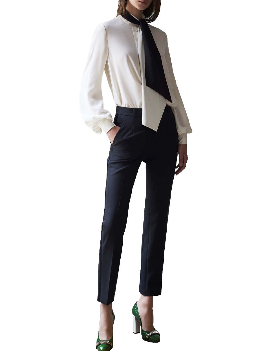 Tuxedo Wool Trousers - The Bobby Boga