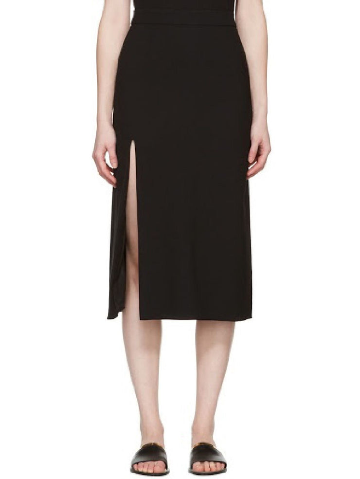 Lanvin A-Line Side Slit Skirt