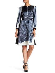 Marc Jacobs Lace Twill Silk Printed Dress