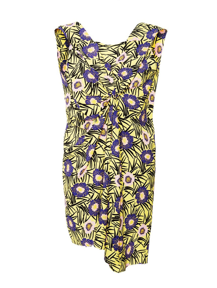 Marni Floral Gathered Tank Top