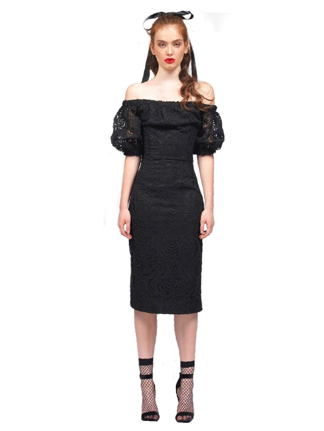 Off Shoulder Lace Dress - The Bobby Boga