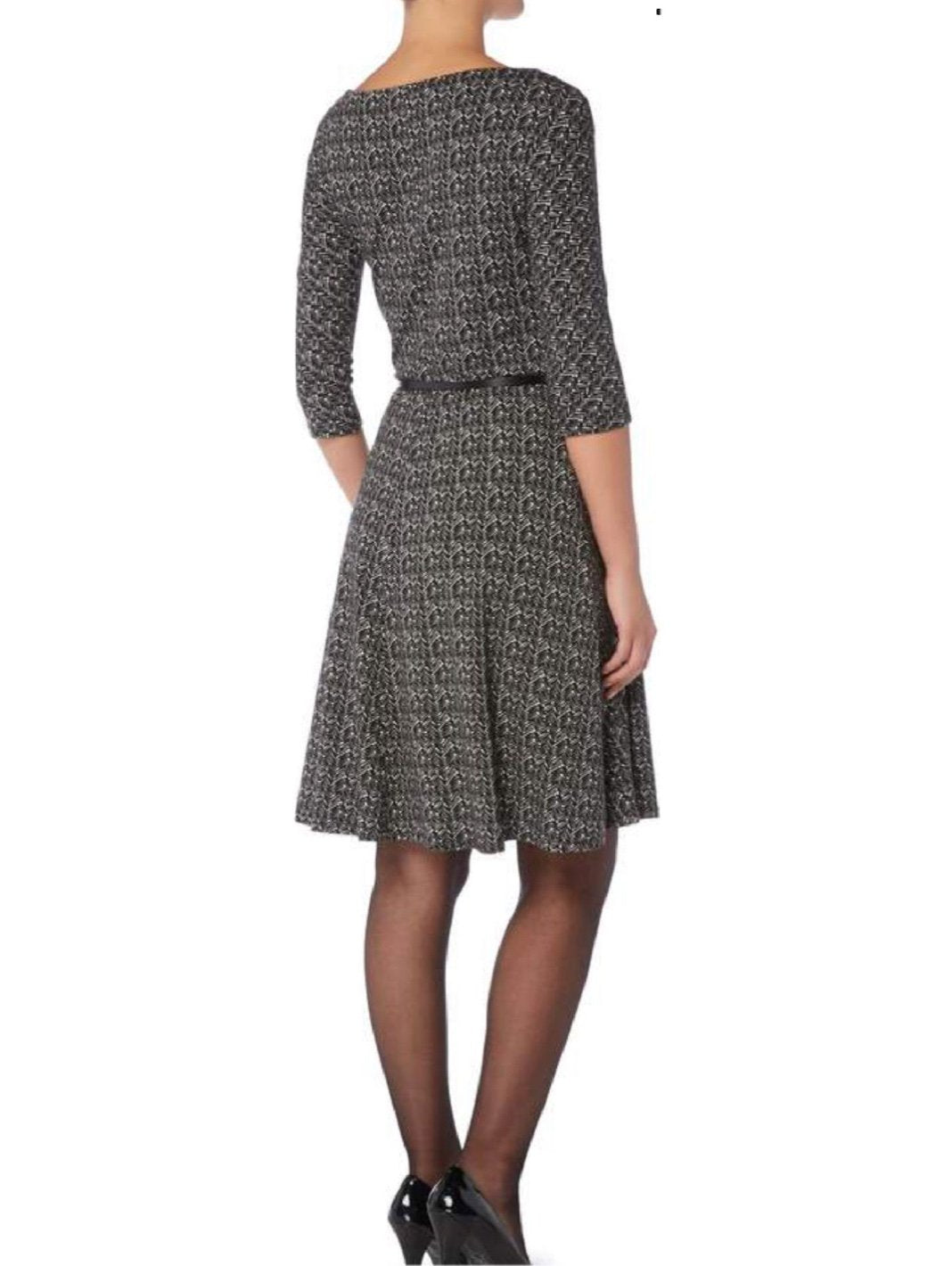 Ghiotto Jersey Print Belted Dress - The Bobby Boga