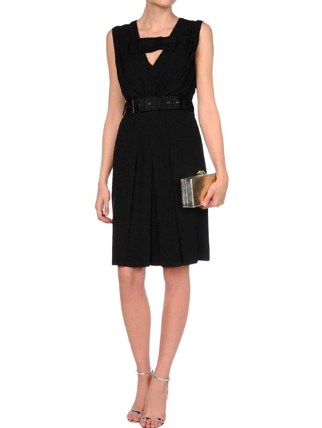 Sable Grosgrain Bow Dress - The Bobby Boga