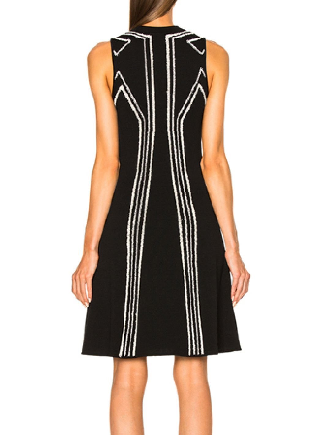 Intarsia Circle Cut Out Dress - The Bobby Boga