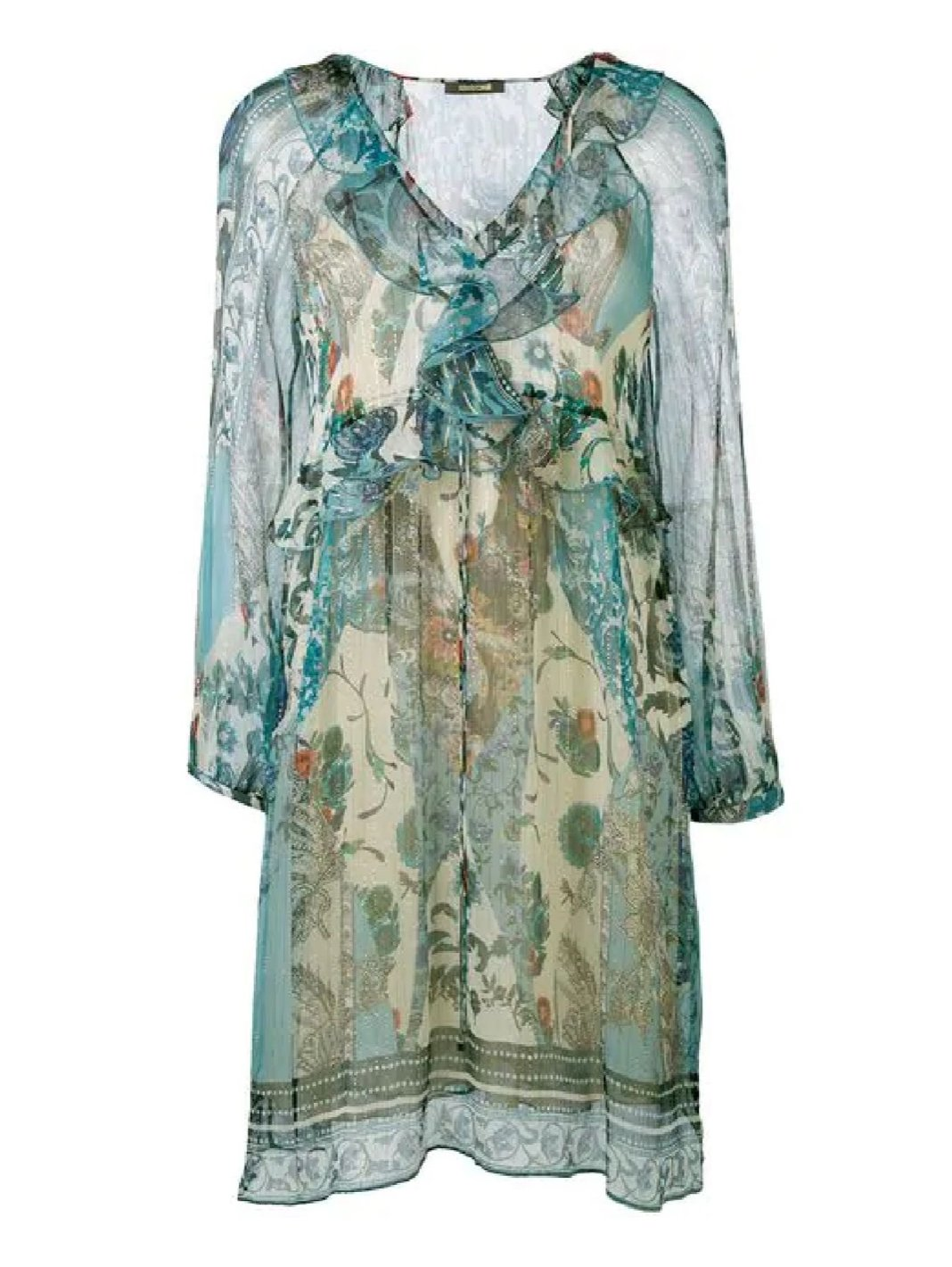Potpourri Print Silk Dress - The Bobby Boga