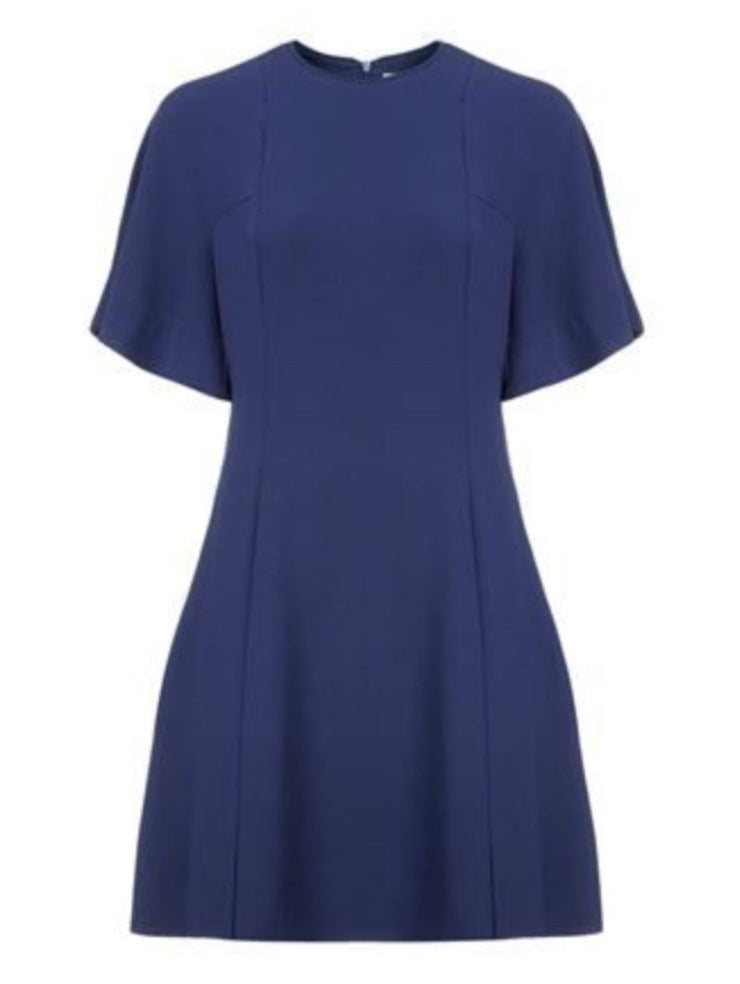 Yoko Fluted Crepe Dress