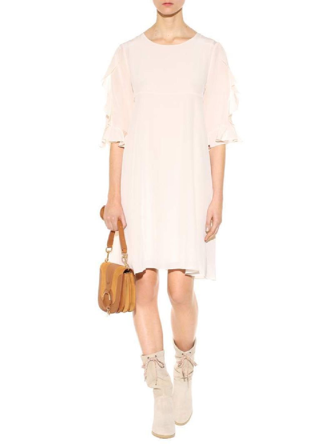 Silk Crepe De Chine Dress - The Bobby Boga