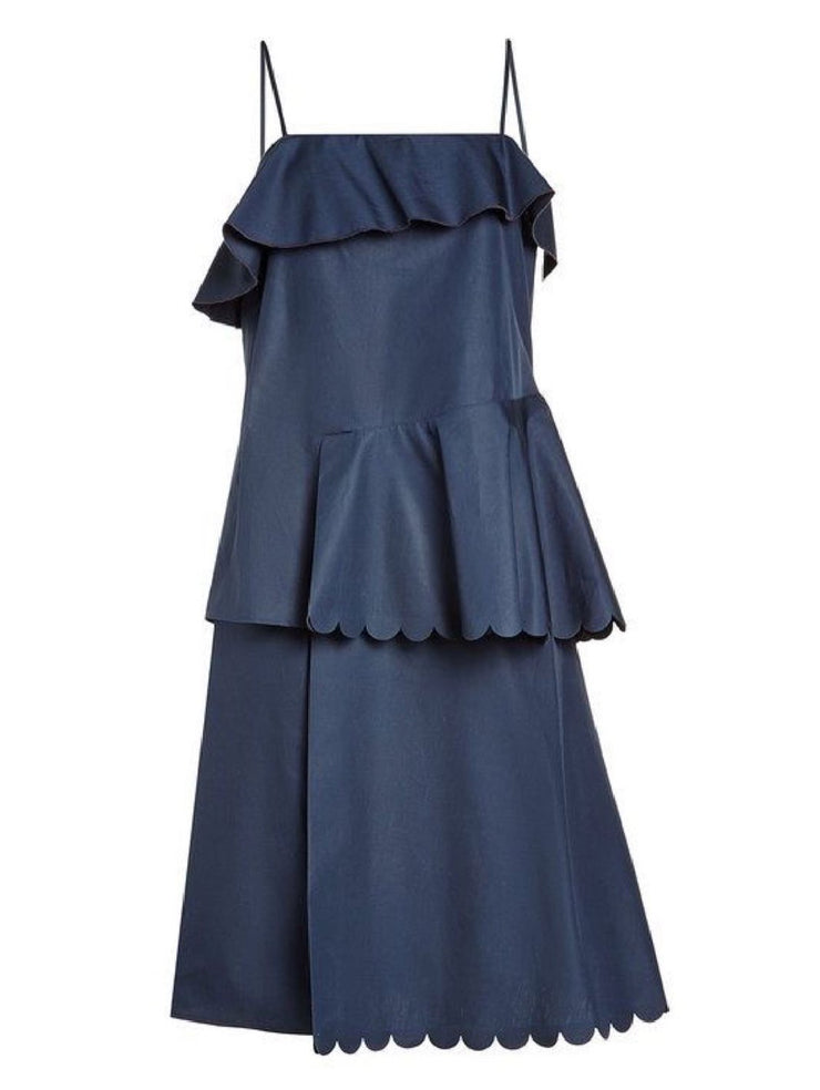 See by Chloé Scalloped Cotton Dress-THE BOBBY BOGA
