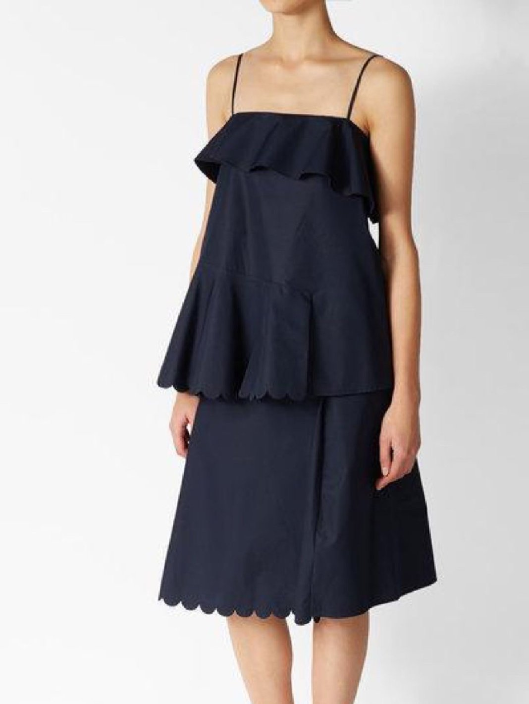 Scalloped Cotton Dress - The Bobby Boga