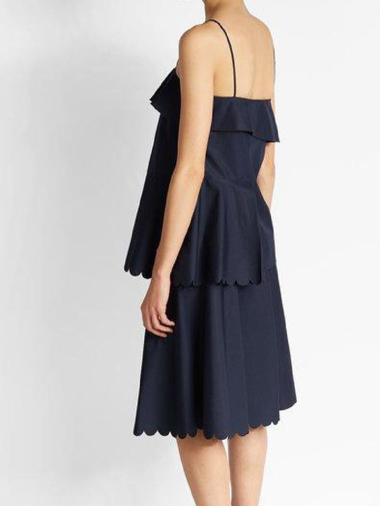 See by Chloé Scalloped Cotton Dress
