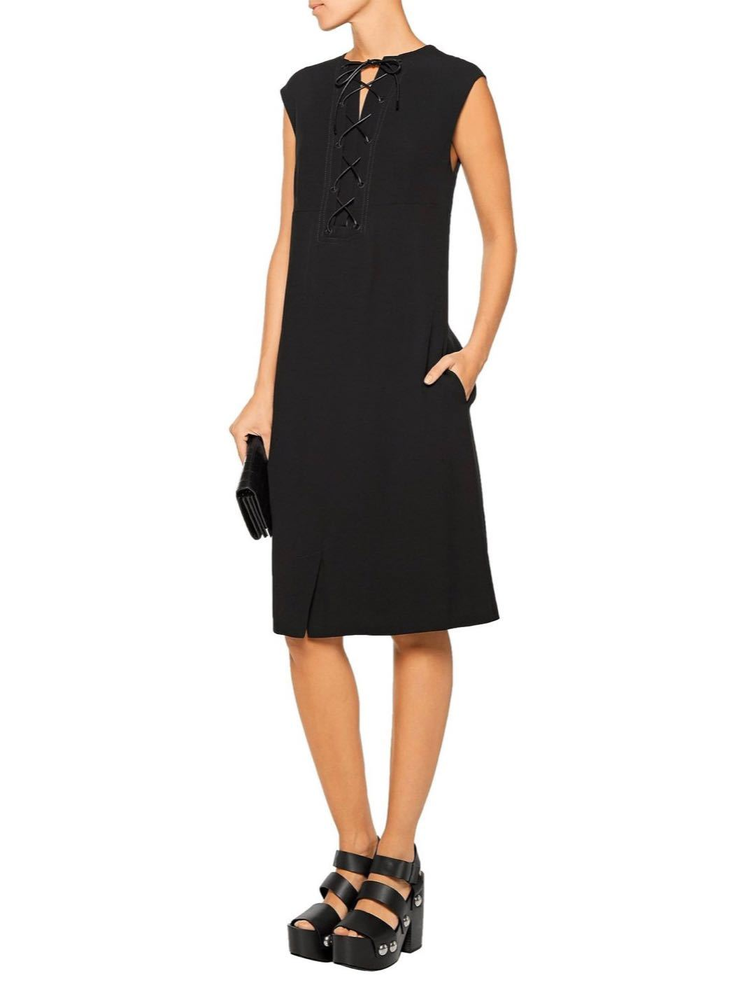 Lace-Up Crepe Dress - The Bobby Boga