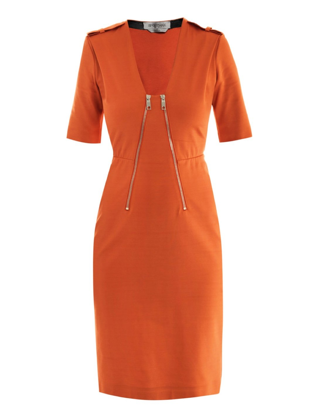 Apuania Jersey Zip Sheath Dress - The Bobby Boga