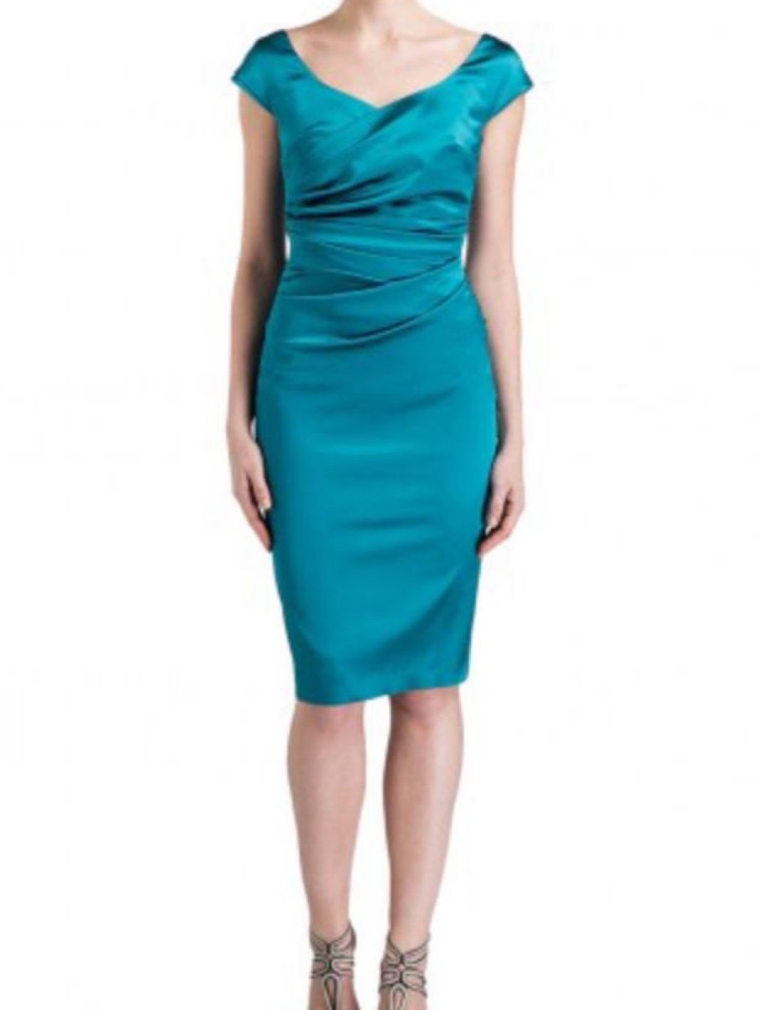 Kortney Satin Cap-Sleeve Dress - The Bobby Boga