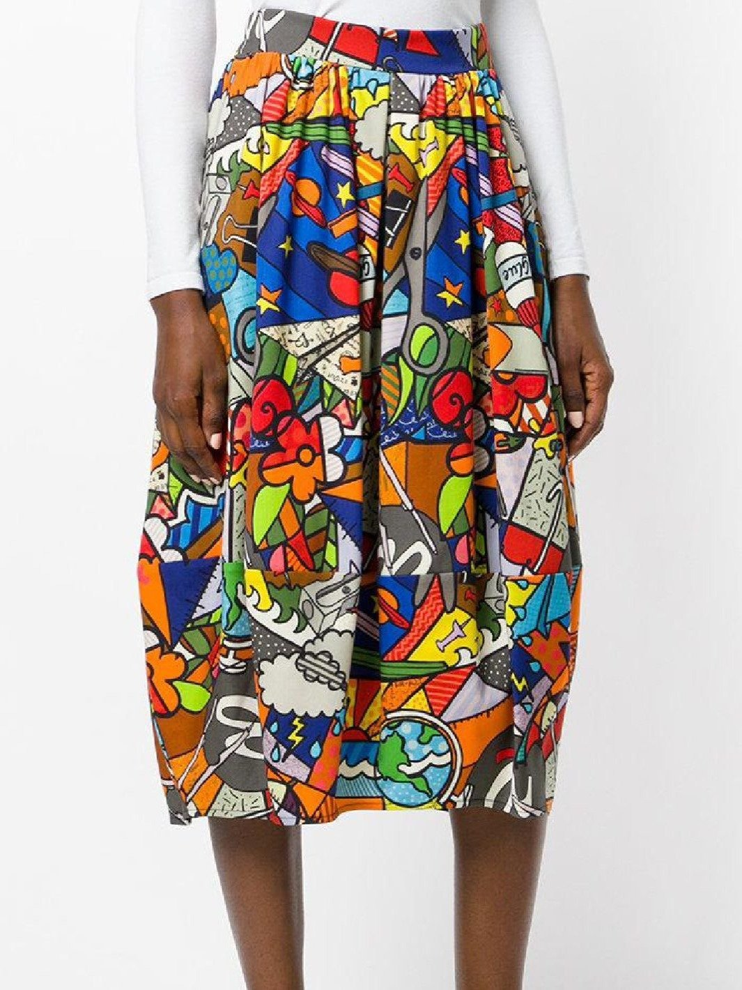 Balloon School Print Wool Skirt - The Bobby Boga