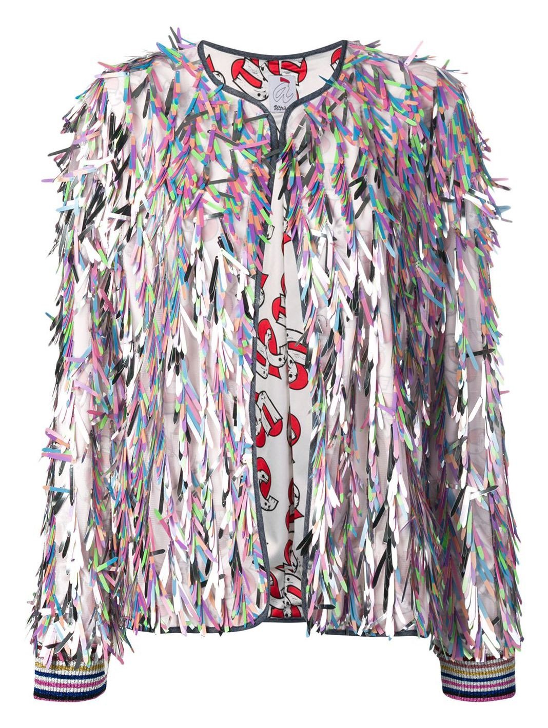 Angels Sequins Fringed Bomber - The Bobby Boga