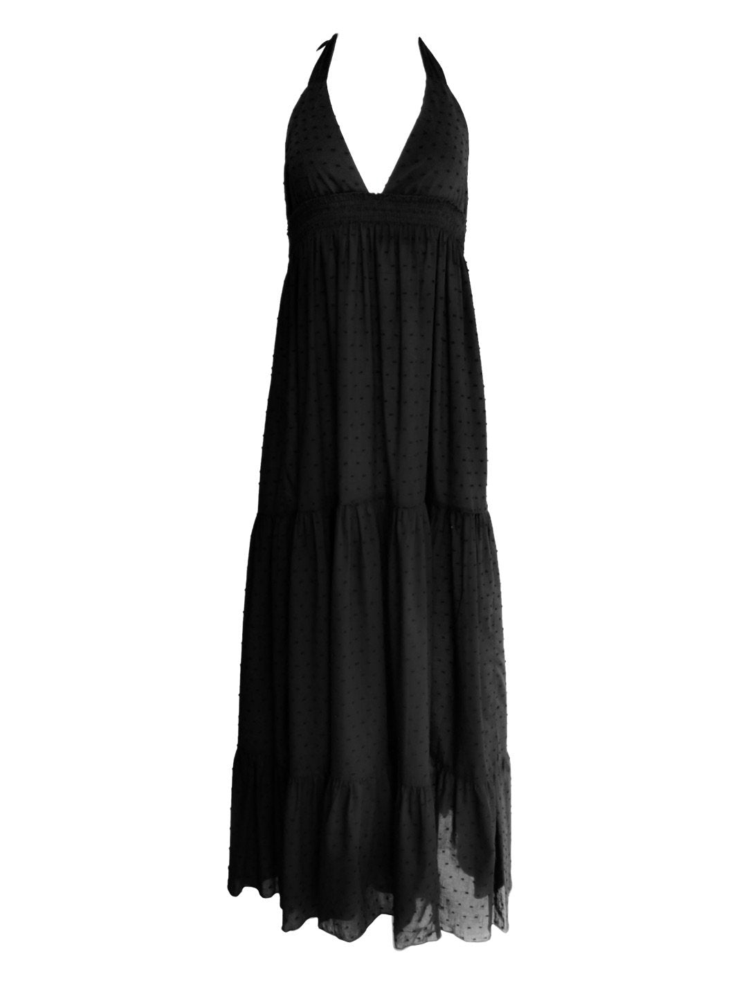 Plumeti Cotton Maxi Halter dress - The Bobby Boga