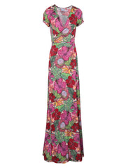 Ultrachic Hibiscus Print Maxi Dress-THE BOBBY BOGA