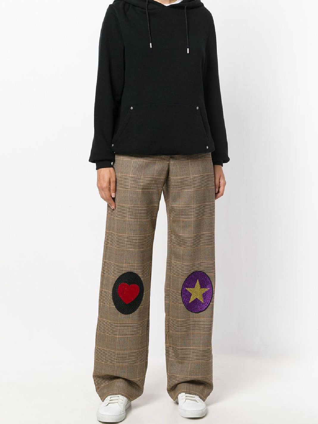 Prince of Wales Patch Wool Trousers - The Bobby Boga