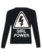 Ultrachic Girl Power Wool Pullover