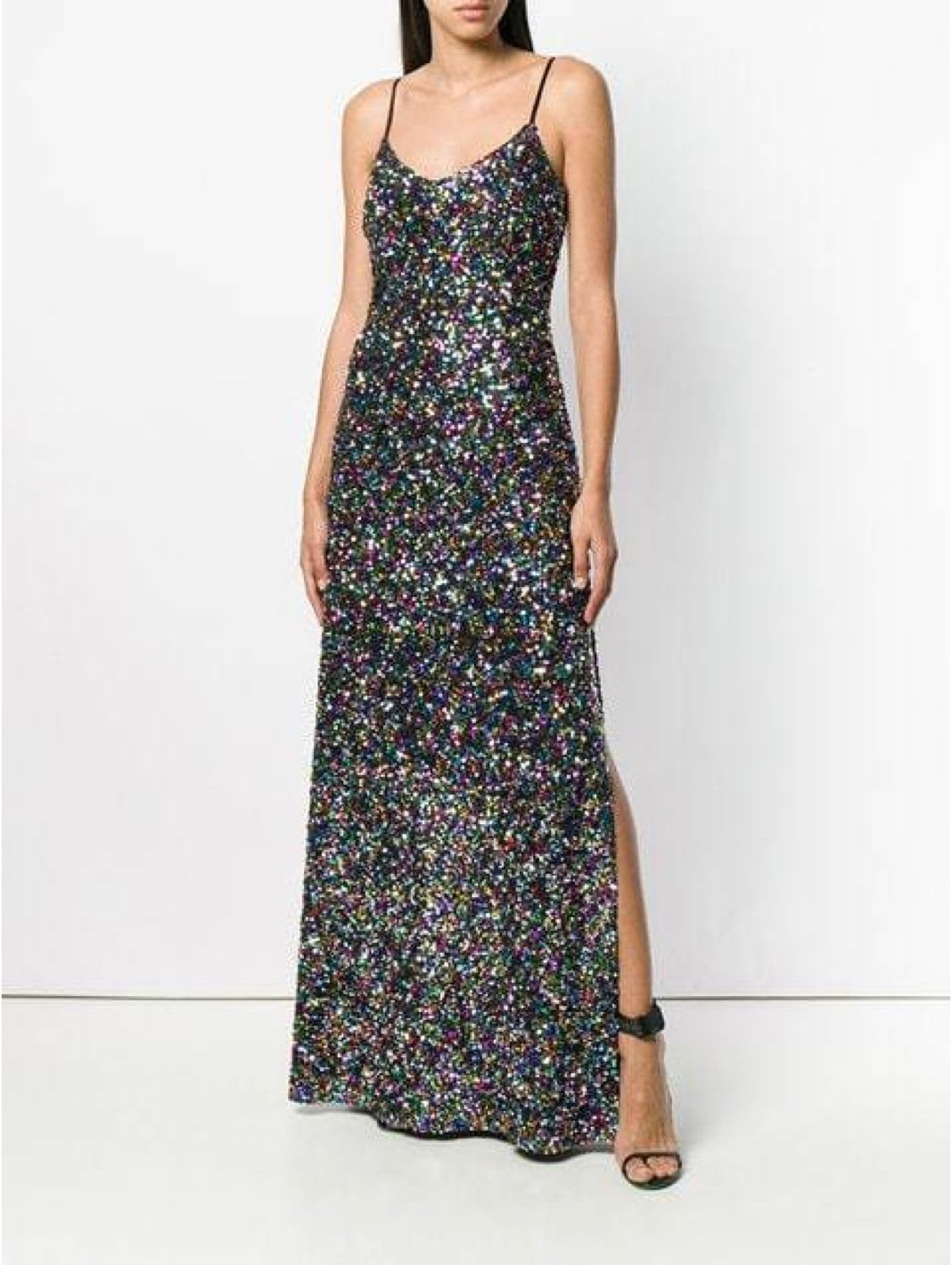 Sequin Embroidered Fit Coupé Slip Dress - The Bobby Boga