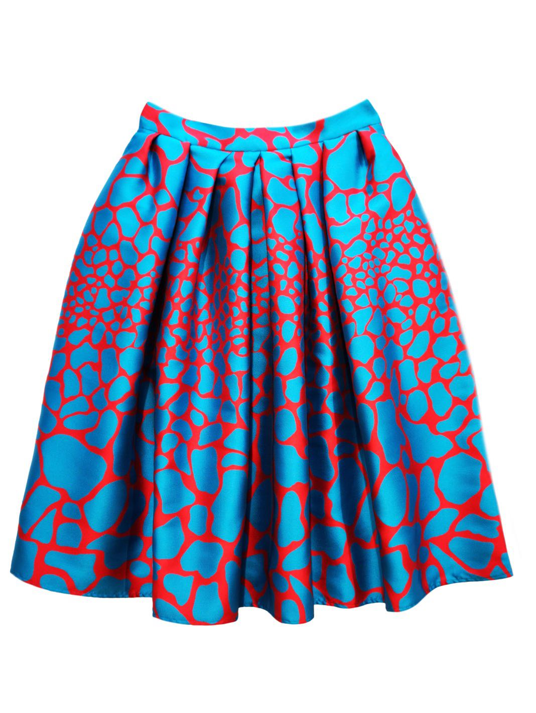 Giraffe-Print Circle Skirt - The Bobby Boga