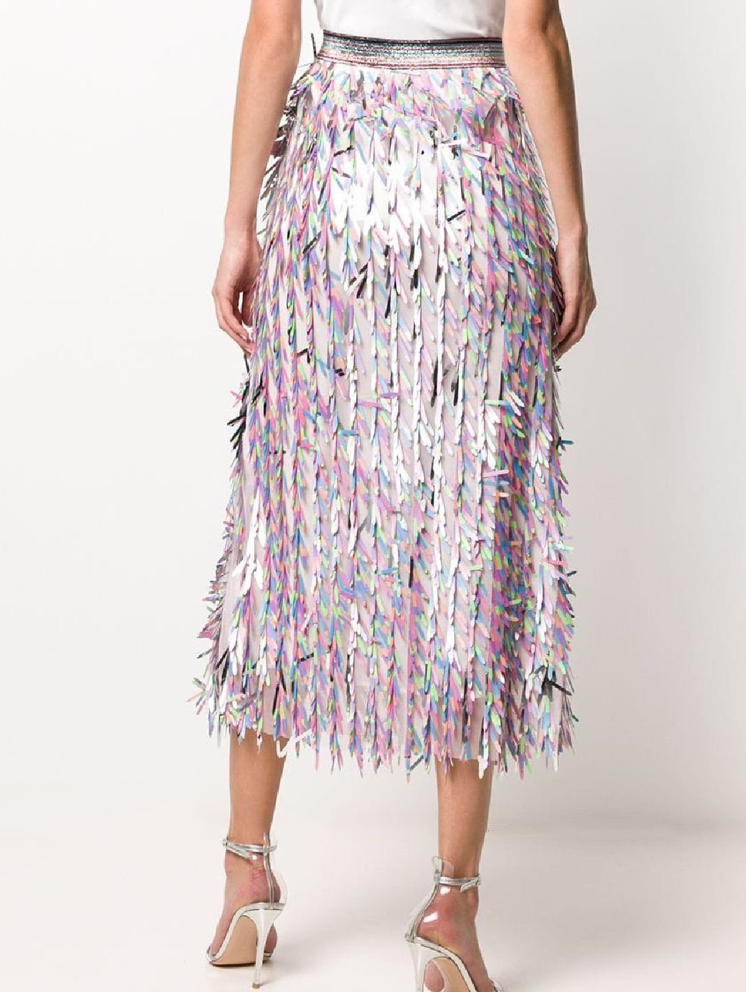 Stencil Cut Sequins Maxi Skirt - The Bobby Boga