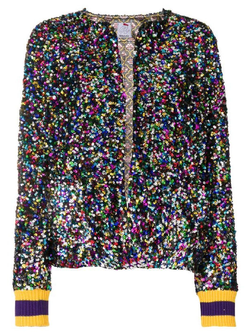 Sequin Embroidered Metallic Jacket - The Bobby Boga