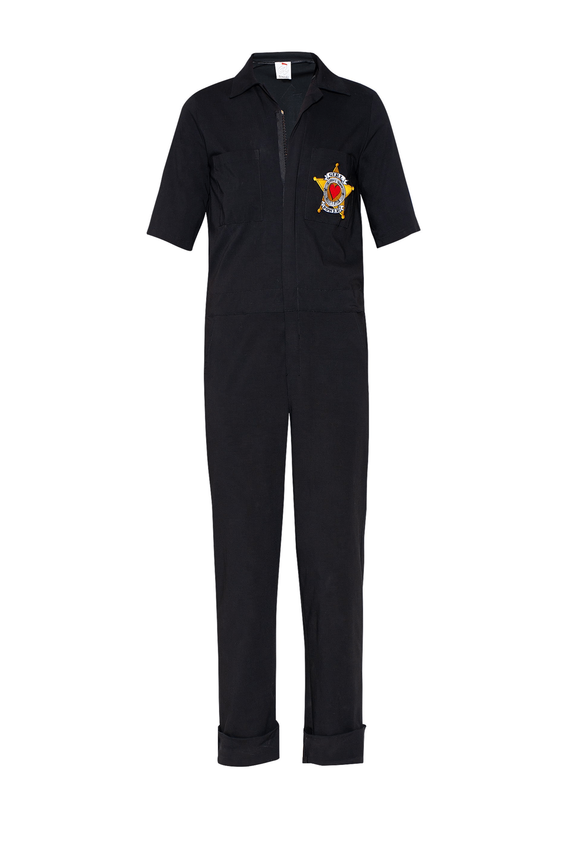 Girl Power Patch Cotton Jumpsuit - The Bobby Boga