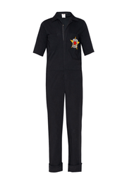 Girl Power Patch Cotton Jumpsuit